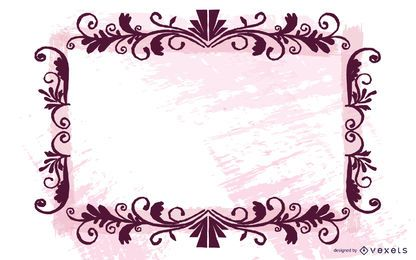 Grungy Halftones wirbelnden Rahmen Banner