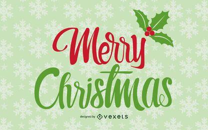 Schneeflocken dekorative Weihnachtseinladung