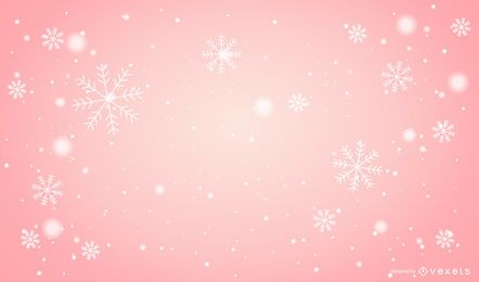 Snowflakes Pink Xmas Background