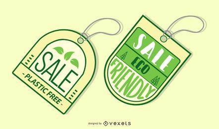 Conjunto de etiquetas de venta ecológica