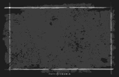 Banner de moldura quadrada preta suja