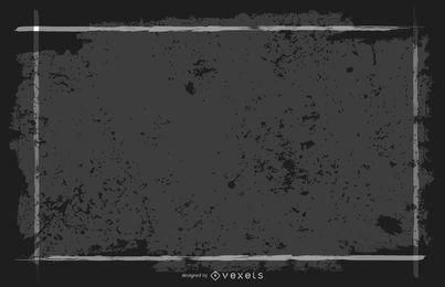 Grungy Banner de marco cuadrado negro