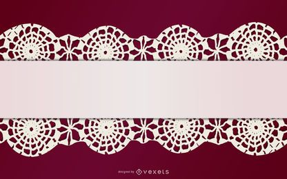 Stitched Up Lace Floral Decoration