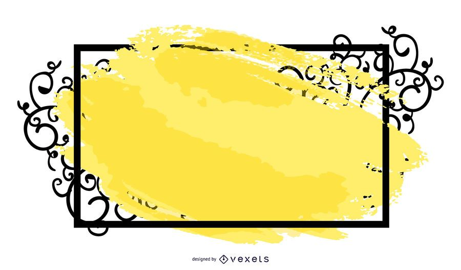 Grungy Swirling Frame Banner