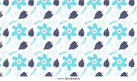 Plantas de flor grungy padrão floral
