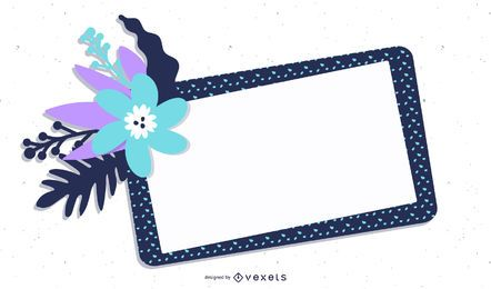 Banner floral marco punteado