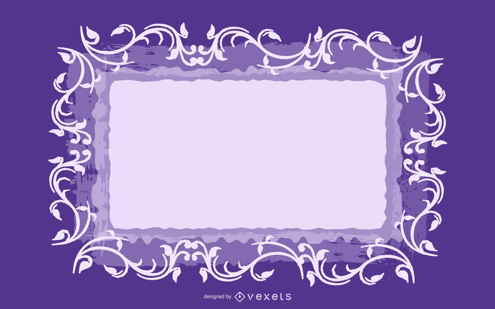 Swirling Frame Grungy Purple Background