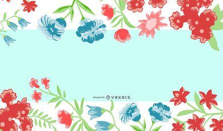Colorful Floral Frame Summer Banner