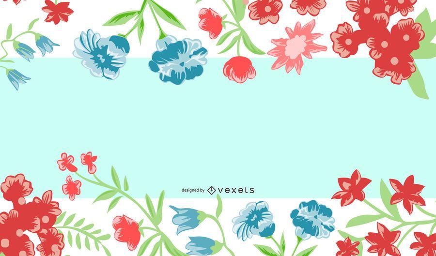 Colorido marco de remolino Banner de verano