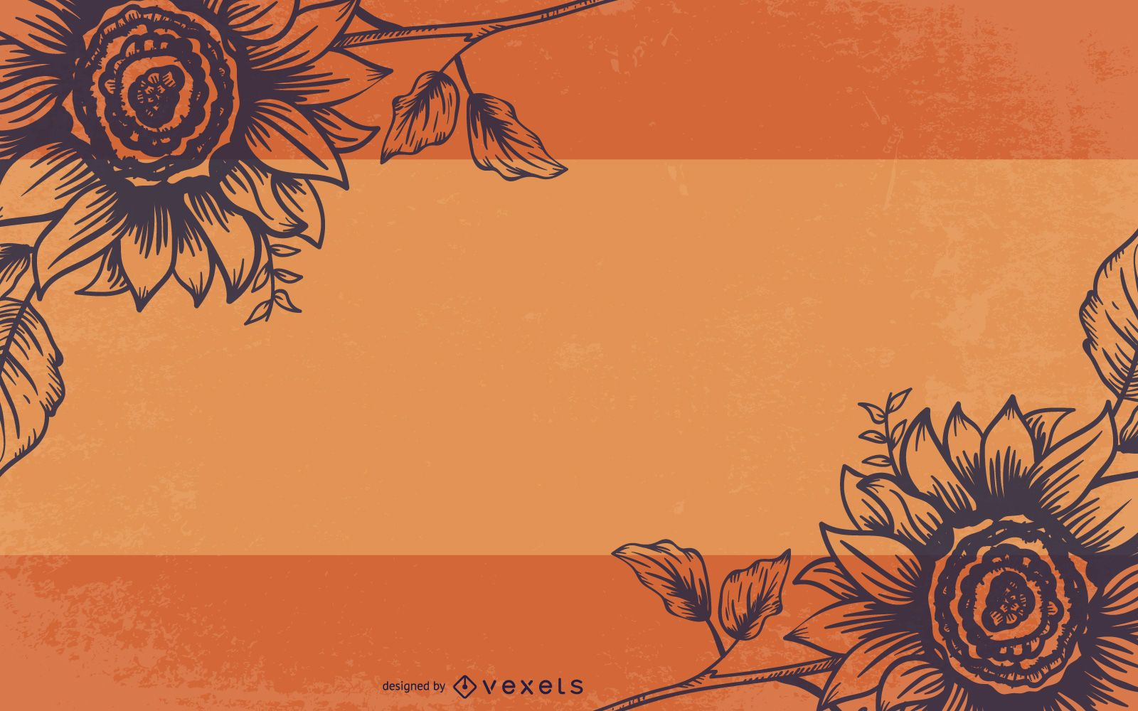 Floral Grungy Hand Drawn Background