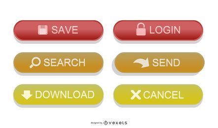 Colorful Glossy Web Button Vectors
