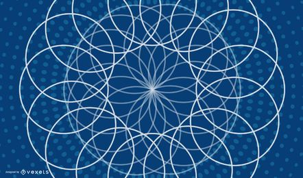 Decorative Geometric Blue Background