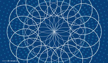 Fundo azul floral de linho decorativo