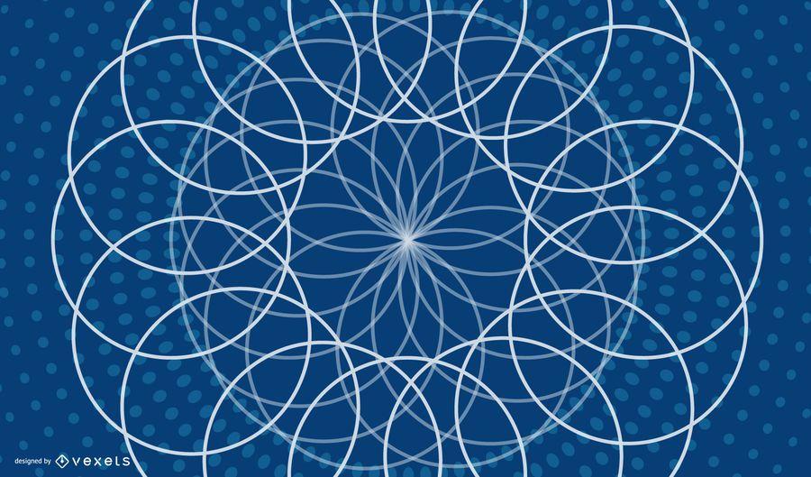 Decorative Geometric Blue Background