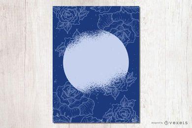 Tarjeta floral de adiós sucia