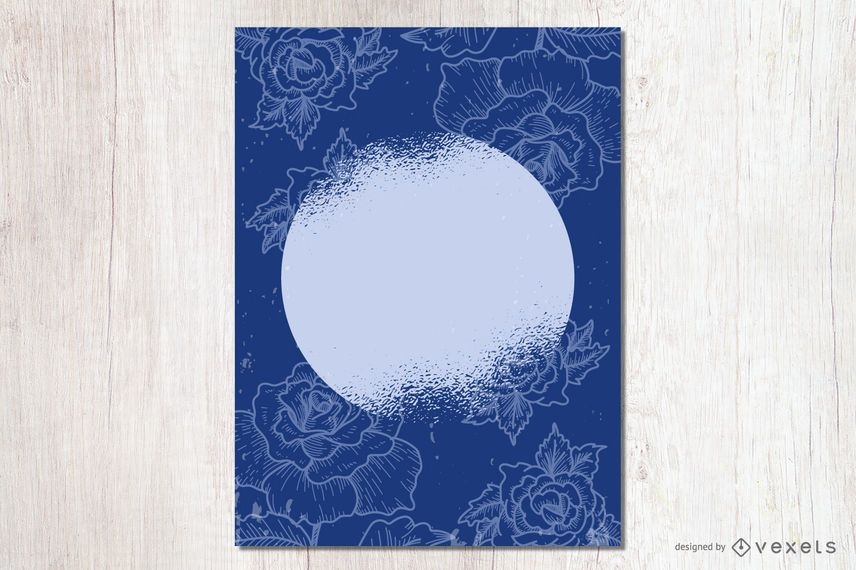 Grungy Dot Floral Card
