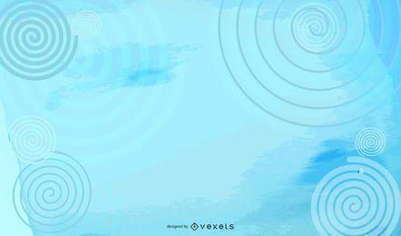 Wirbelnder bunter gespritzter Wolken-Hintergrund