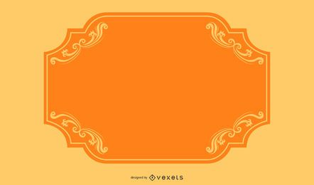 Bunte wirbelt orange Grenzfahne
