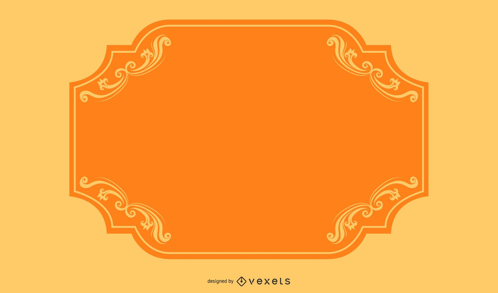 Colorful Swirls Orange Border Banner