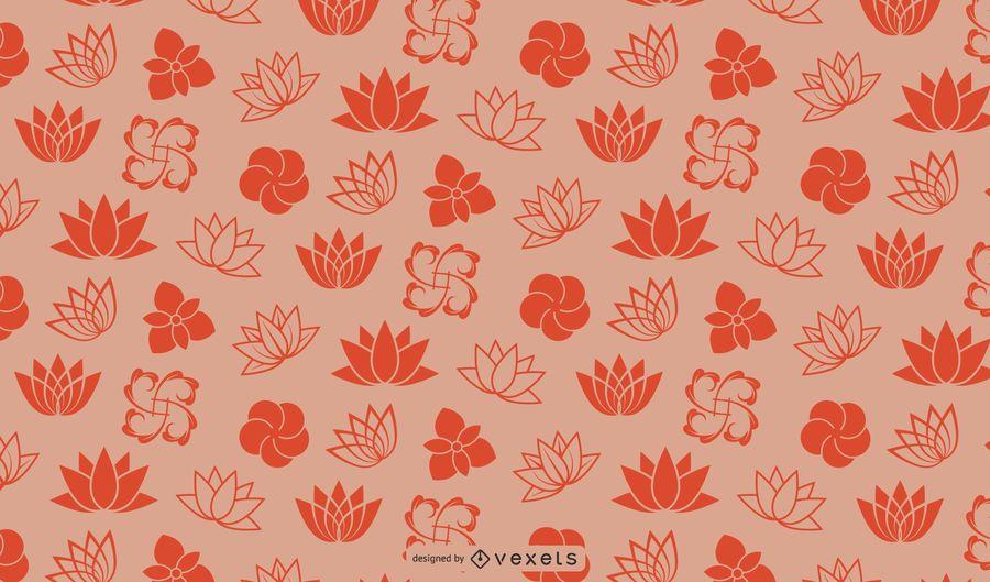 Colorful Swirls Starburst Background