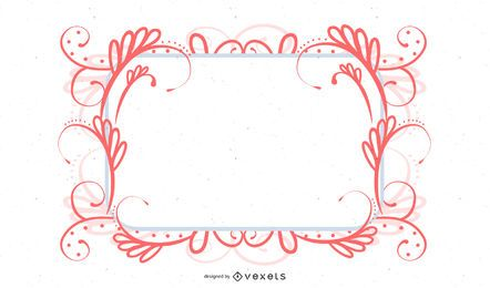 Vintage Colorful Swirling Frame Banner