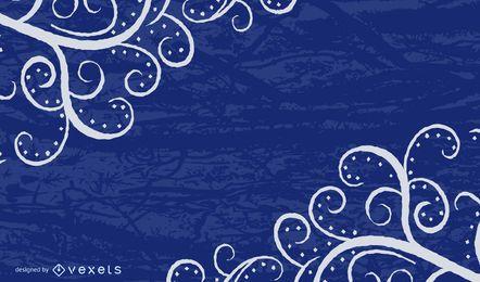 Fundo sujo de redemoinhos azuis