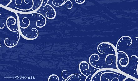 Grungy Blue Swirls Background