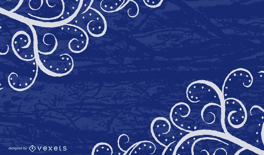 Grungy Blue Swirls Background