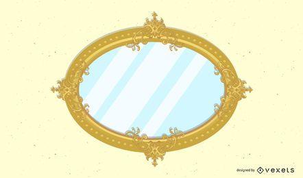 Espejo ornamental marco retro fondo