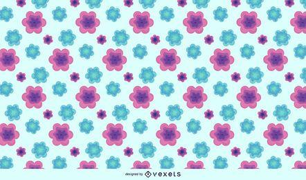 Purpurrotes grünes abstraktes Blumenmuster