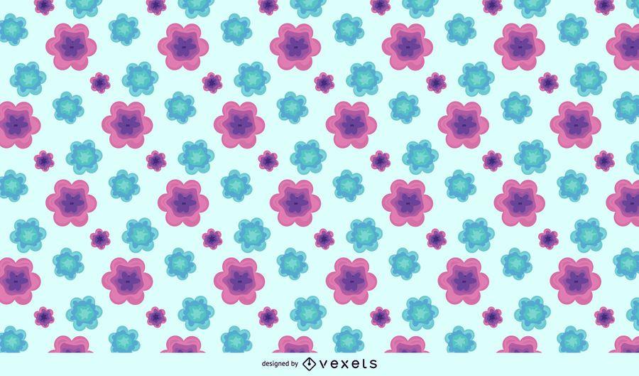 Teste padrão de flor abstrato verde roxo