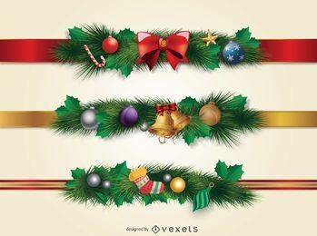 Beiras do ornamento do Natal