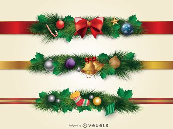 Weihnachtsrandverzierung