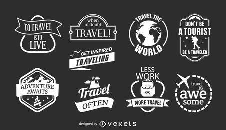 9 emblemas de viagem