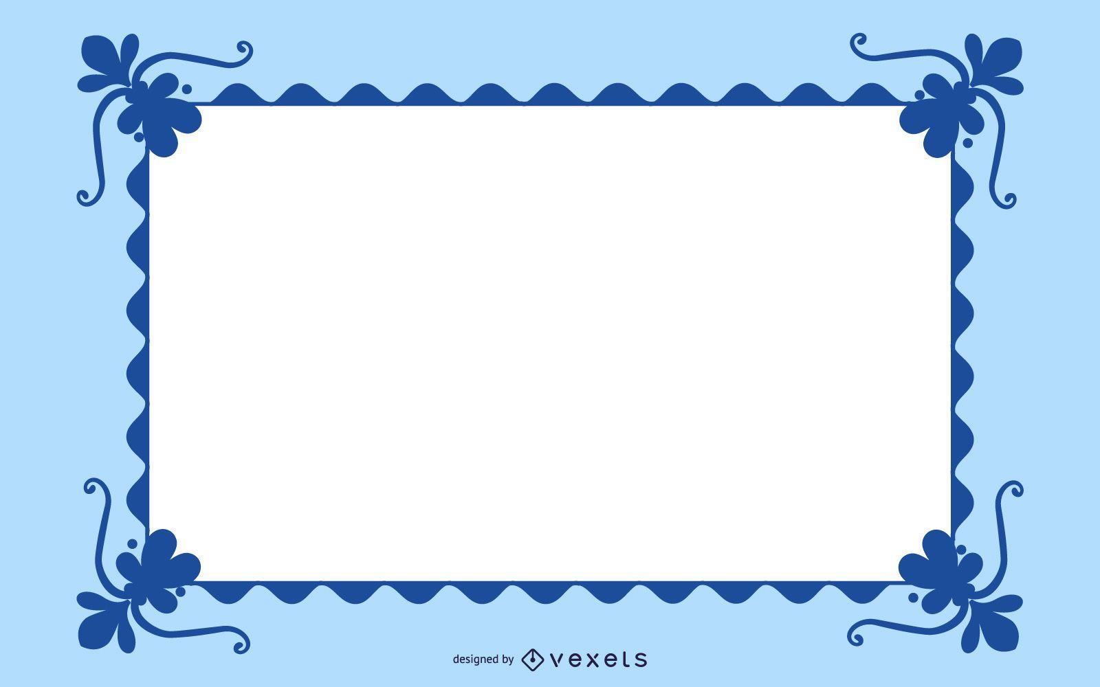 Wavy Swirling Frame Banner