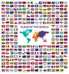 Coleção de bandeiras do mundo