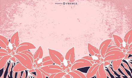 Grungy Pink Flower Background