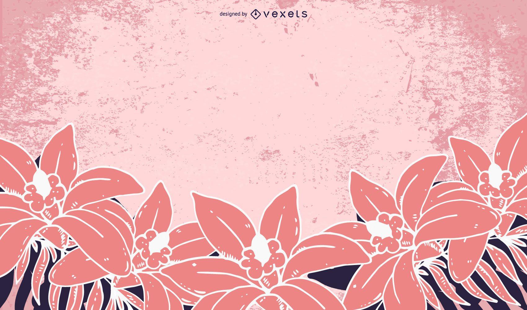 Grungy Pink Flower Background