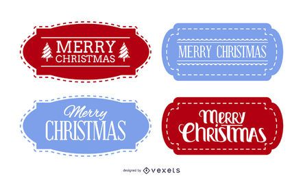 Decorative Christmas Label Set