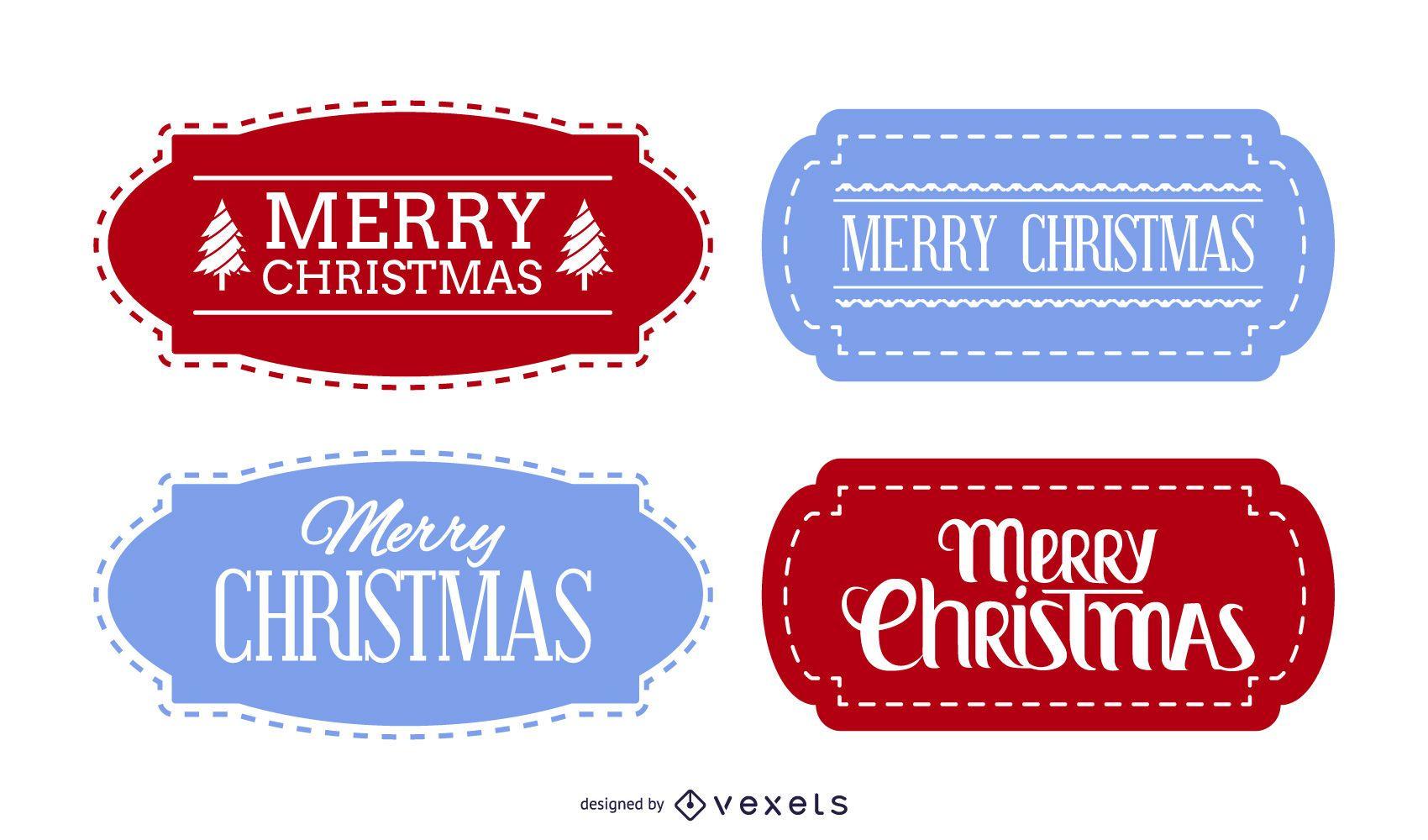Decorative Christmas Label Set