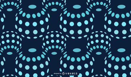 Burbujas flotantes patrón punteado