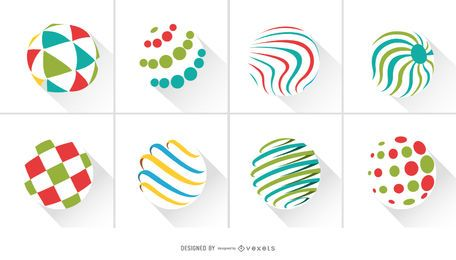 Pacote do logotipo do Abstract Circles