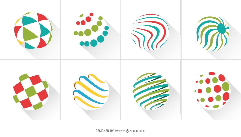 Abstrakte Kreise Logo Pack
