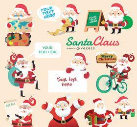 Papai Noel conjunto de caracteres