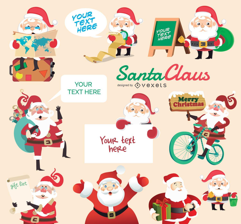 Conjunto de caracteres de Santa Claus