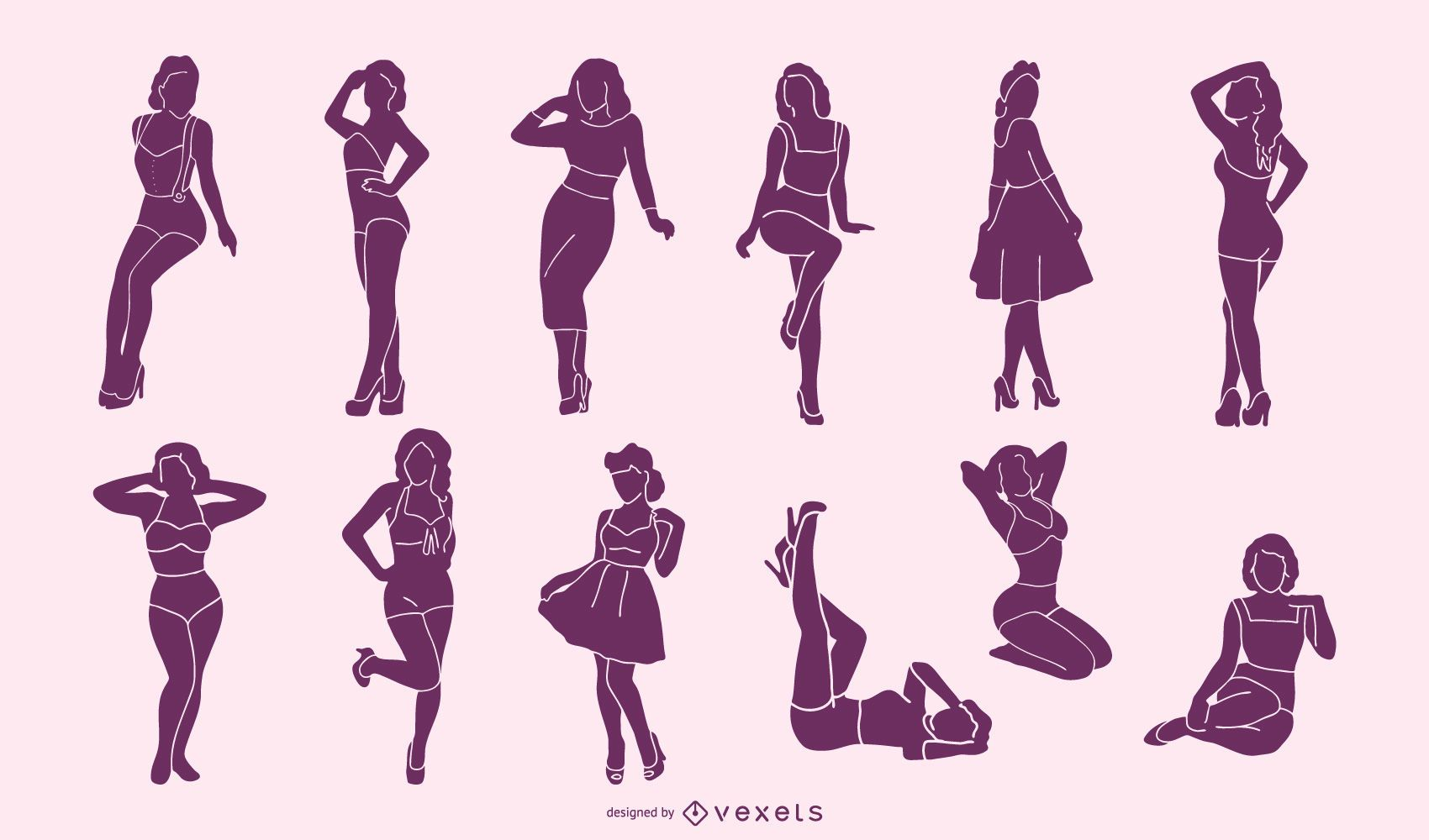 Pin Up Girl Silhouette