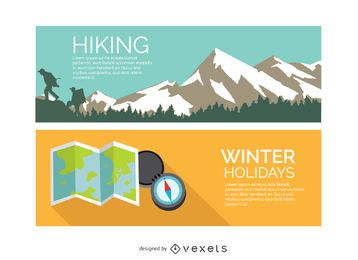 Hiking winter holidays