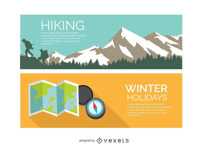 Hiking winter holidays