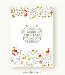 Merry Christmas beautiful postcard