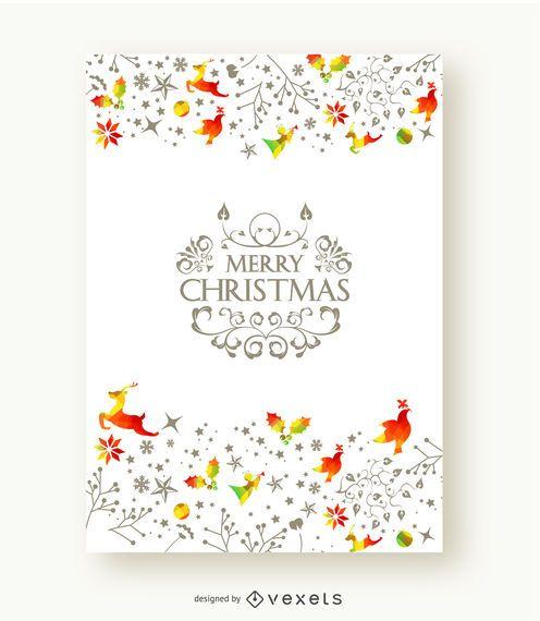 Postal hermosa feliz Navidad